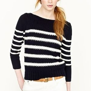 J. Crew ripplestitch sweater in stripes